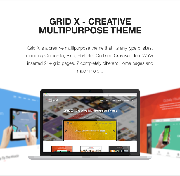 GRID X - Creative MultiPurpose Theme