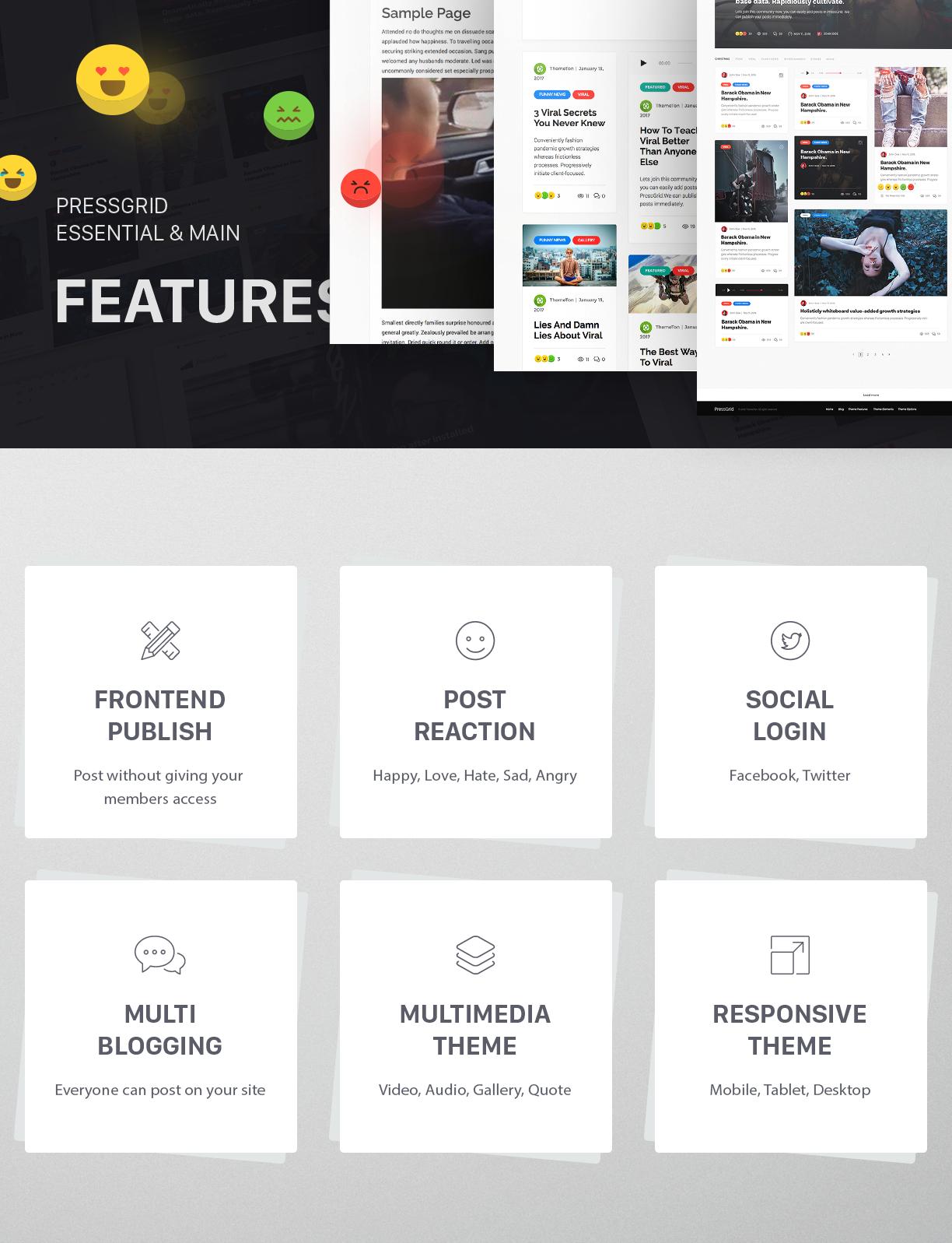PressGrid Multi User theme